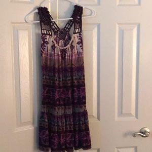 Purple summer dress.